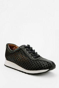 Jeffrey Campbell Leather Cutout Running Sneaker