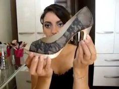 Customizando:Como colar renda em seus sapatos!!!