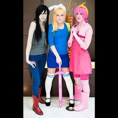 Friends don't let friends cosplay alone. Especially in Adventure Time costume.
