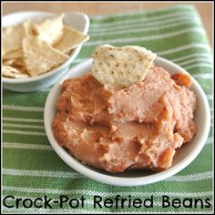Homemade Refried Beans in the crock-pot
