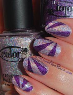 nail tips, purple, colors, club fashion, glitter nails, nail arts, color club, wild at heart, sparkly nails