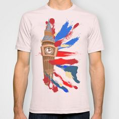 Big ben Clocktower with union jack T-shirt