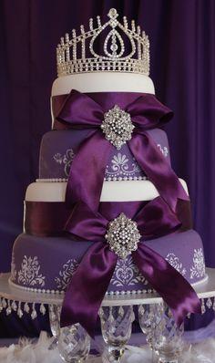 Royal Purple Wedding Cake