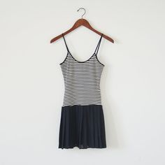 #Vintage black and white dress