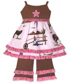 Girls Boutique Cowgirl & Horses Dress & Pant Clothing $24.99
