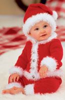 How to knit a baby santa suit. Free pattern