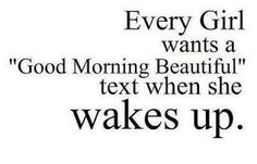 Every girl good morning sms wish