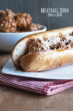 Homemade Meatball Sub Sandwiches - give meatballs a new purpose in life!