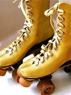 Vintage roller skates!