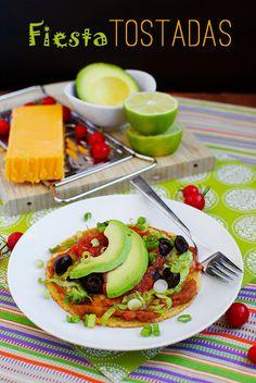 Fiesta Tostadas (20 Minute Meal!)