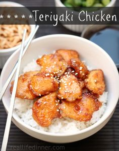 Teriyaki Chicken...The sauce is only three ingredients and the results are FANTASTIC! | reallifedinner.com