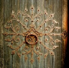 Knocker at Nidaros Cathedral in Trondheim, Norway - Founded c. 1070 - by Helena Normark