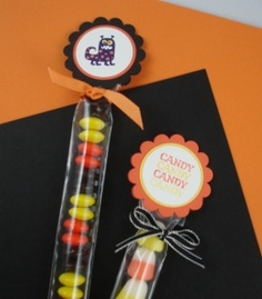 1x8 Cello Bag Treats. Toppers were made using Halloween Bingo Bits stamp set.