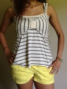 DIY Tshirt to tank top refashion - could be good as a dress top too!