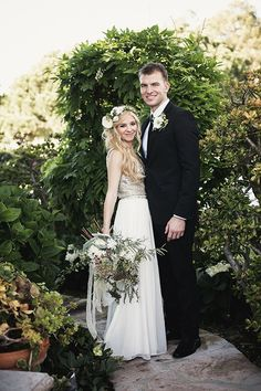 chaelyn + noah | Leona Dress from BHLDN | via: wedding chicks | #BHLDNbride