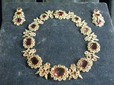 ruby and diamond tiara, bracelets, necklace, earrings of Queen Therese of Bavaria 1830