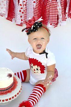 little girls, idea, 1st birthday photos, birthday parties, raggedyannbirthday parti, 1st birthdays, photo shoots, raggedy ann, raggedi ann