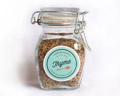 Downloadable spice labels dress up plain glass jars.