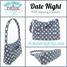 Date Night Purse PDF Sewing Pattern by Dog Under My Desk