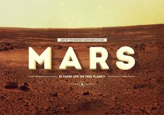 Mars by Tomek Kowalik, via Behance