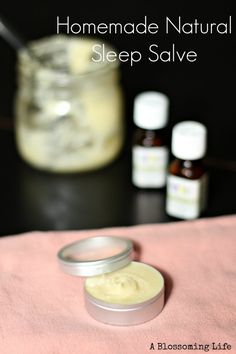 Homemade Natural Sleep Salve for a better night of sleep. :: A Blossoming Life