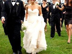 Organza Wedding Dress with Tiered Skirt