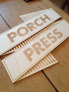 Laser cut ply sign for my print workshop