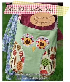 Lola Owl Bag Pattern
