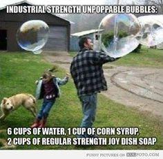 giant bubbles- Kid fun