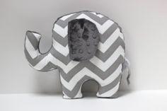 Chevron Elephant nursery pillow