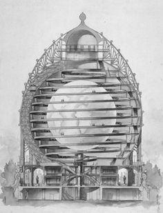 """""""Elisée Reclus Globe for the 1900 Paris World's Fair"""" by Louis Bonnier. #architecture"""