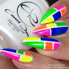 Sassy Paints: Neon Color Blocking  @colouredraine