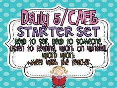 FREE Daily 5/CAFE Starter set