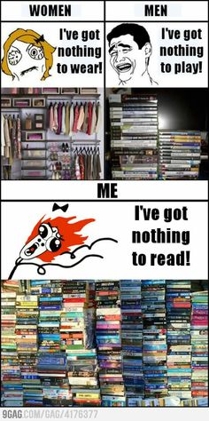 There are never enough books to read!!