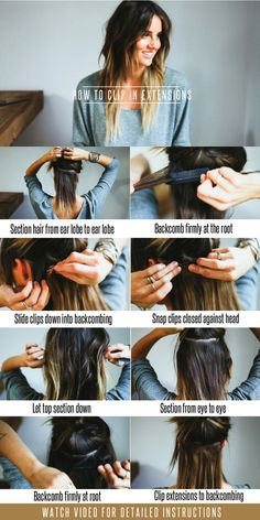 Hair Tutorial // How To Clip In Extensions