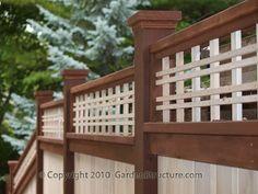 wood fences in toronto with custom lattice