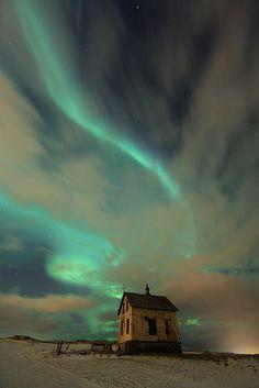 Iceland, Aurora Borealis.