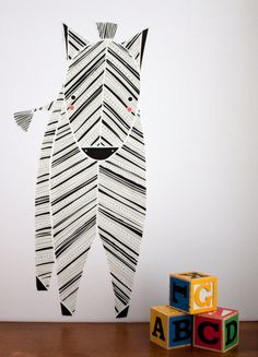 Zebra Wall Decal by Gingiber // at Darling Clementine