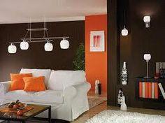 I love dark brown and orange decor