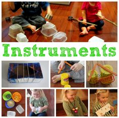 The ABC's of Toddler Activities {F through J}. Instruments for toddlers.