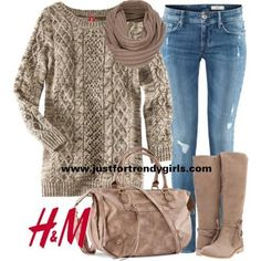 Im in love with chunky cable knit... I really ...
