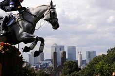 Spectacular effect on the Olympic XC course in Greenwich Park