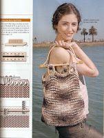 Puntadas con amor: Bolso en telar rectangular o azteca