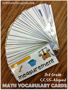 3rd Grade Thoughts: 300+ CCSS-Aligned ELA & Math Vocabulary Cards
