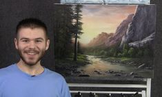 Paint with Kevin Hill - Sunset Across the Mountains (+playlist)