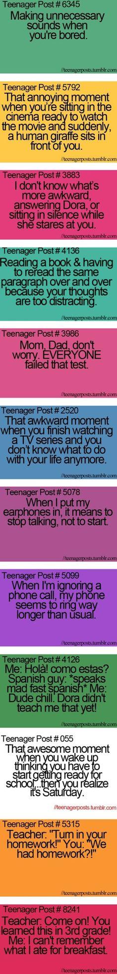 Teenager posts!