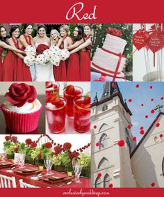 Red Wedding - Read more about Red on our blog post: http://blog.exclusivelyweddings.com/2014/02/15/the-10-all-time-most-popular-wedding-colors/