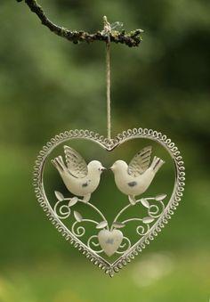 Lovebirds in heart
