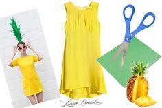 How to DIY a Pineapple Halloween Costume