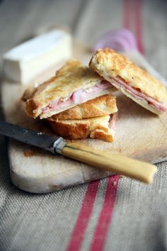 Quince, Brie and Black Forest Ham Panini